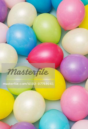 Multi colored balloons, studio shot
