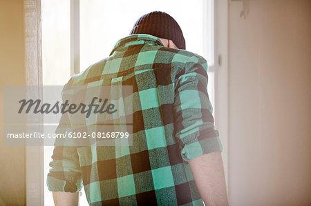 Men near window