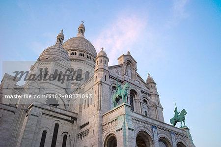Low angle view of Sacre Coeur, Paris, France
