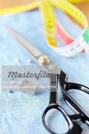 Sewing materials, close-up