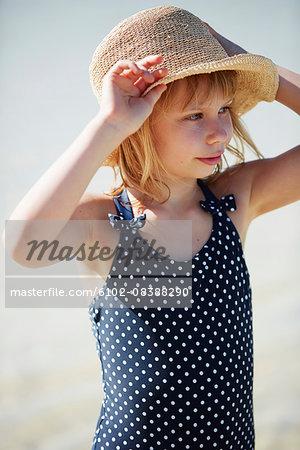 Portrait of girl in swimsuit