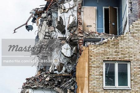 Old demolished house