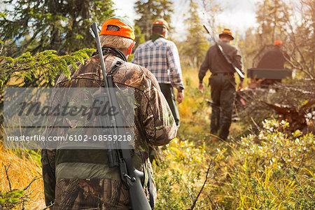 Men at hunting