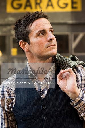 Portrait of elegant man
