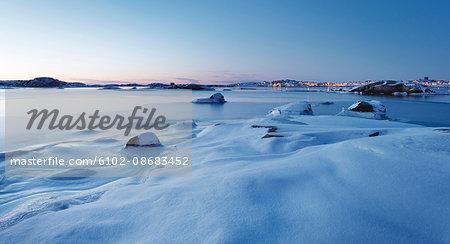 Coast at winter