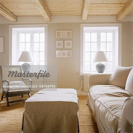 A Scandinavian living room, Sweden.