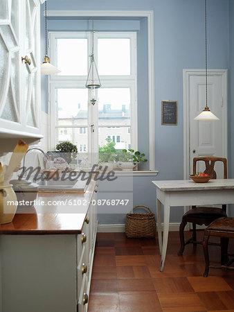 A kitchen, Skane, Malmo, Sweden.