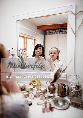 Girls doing make up