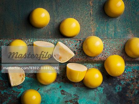 Yellow desserts