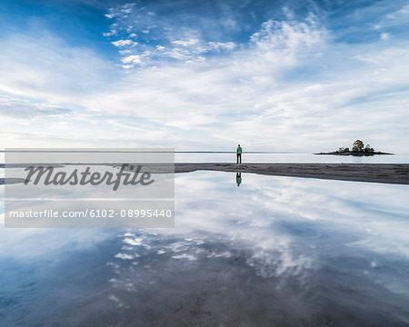 Person looking at sea