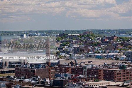 High angle view of a city, Boston, Massachusetts, USA