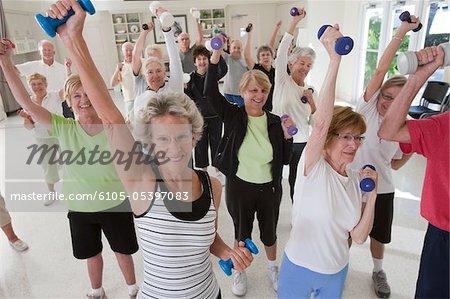 Senior exercise class