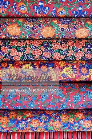 Printed fabrics, Urgut, Samarkand, Uzbekistan