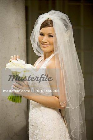 pretty Bride posing