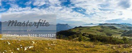Panoramic View of Italian Alps in Verona Province