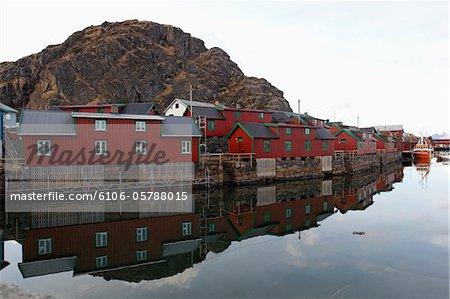 Svolvaer village, Norwegian coastal voyage route