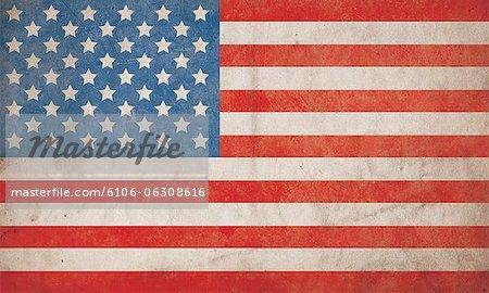 American Flag Grunge Background - Hi Res