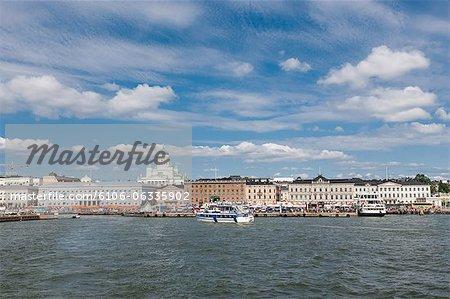 Helsinki City  and Harbor view