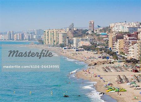 Carvajal, Costa del Sol, Spain.  The beach.