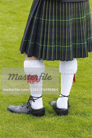 kilt of a bagpiper, Braemar Highland Games