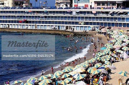 Stanley Beach, Corniche, Alexandria, Egypt