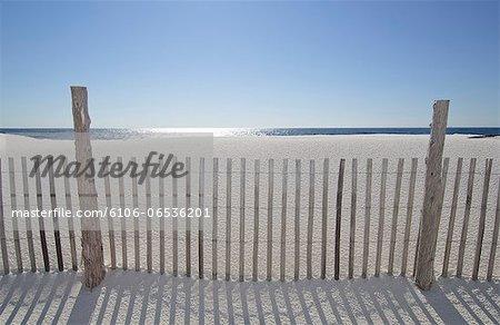 Sand Fence On Beach