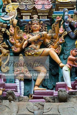 Nataraja on south gopuram, Meenakshi Temple
