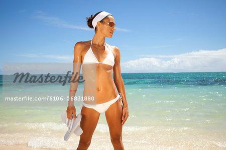 lean and tanned in bikini