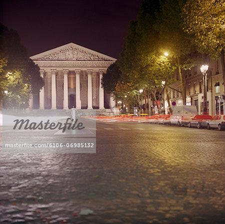 France, Paris, Madeleine Church at night
