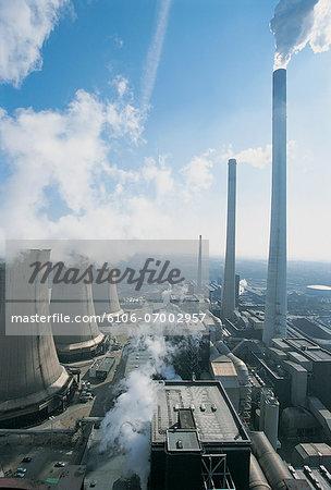 Smoke Stacks and Power Station, Germany