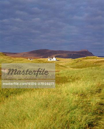 Distant Cottage in Oldshoremore, Sutherland, Scotland