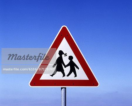 road sign, children