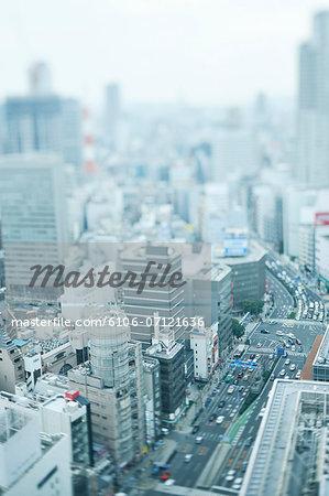 Cityscape of Osaka, Japan.