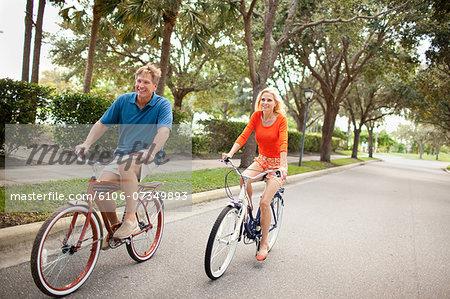 Empty Nester Couple on bikes