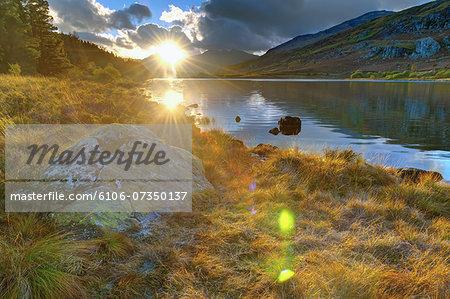 Wales, Snowdonia National Park, Mymbyr Lakes