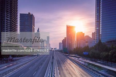 expressway in downtown Beijing