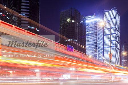 evening car motion in Beijing