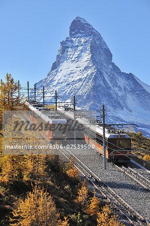 Gornergrat Railway with Matterhorn