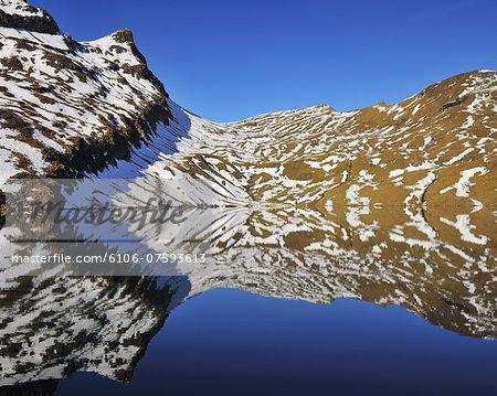 Mountain reflecting in Lake
