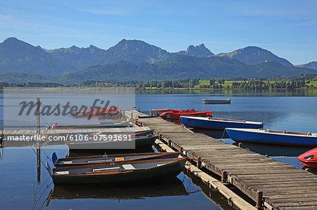 Germany, Bavaria, Hopfen Lake