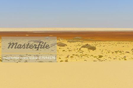 Salt Lake in the Desert