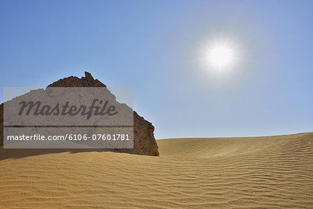 Desert Landscape with Sun