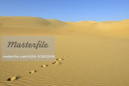 Footprint on Sand Dune