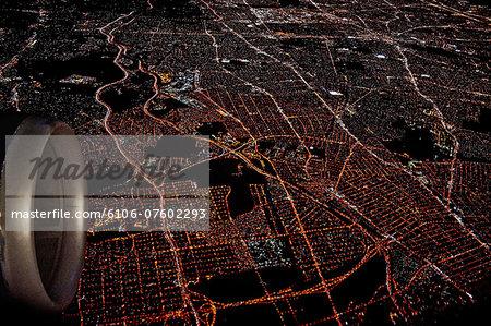 Urban area taken from airplane
