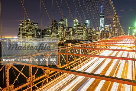 Manhattan, Brooklyn Bridge, New York City, USA