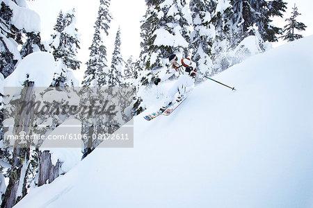 Skiing in Mount Baker