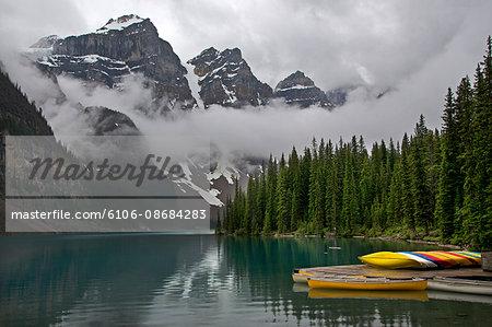Lake Moraine canoes
