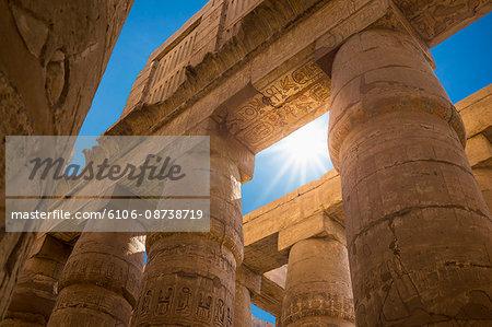 Karnak Temple columns, Luxor, Egypt
