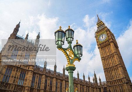 Westminster Palace with Big Ben clock