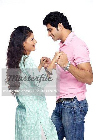 Portrait of a couple dancing